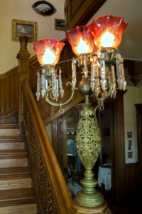 Victorian-Style Lighting On the Stairway