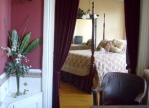 Vintage Velvet Theatre Curtains and Renaissance Fringed Bedding